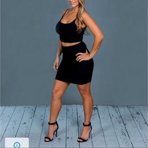Sexy Black Skirt & Top